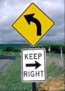 Left - keep right