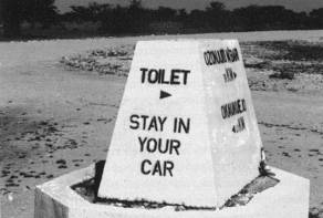 Toilet -- Stay in your car